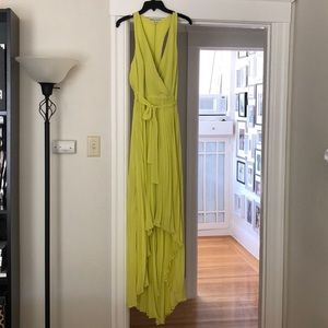 BCBG Pleated High/low Gown NWT